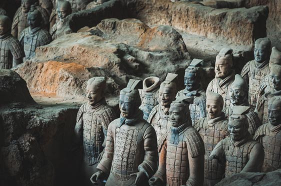 An image of the Terracotta warriors